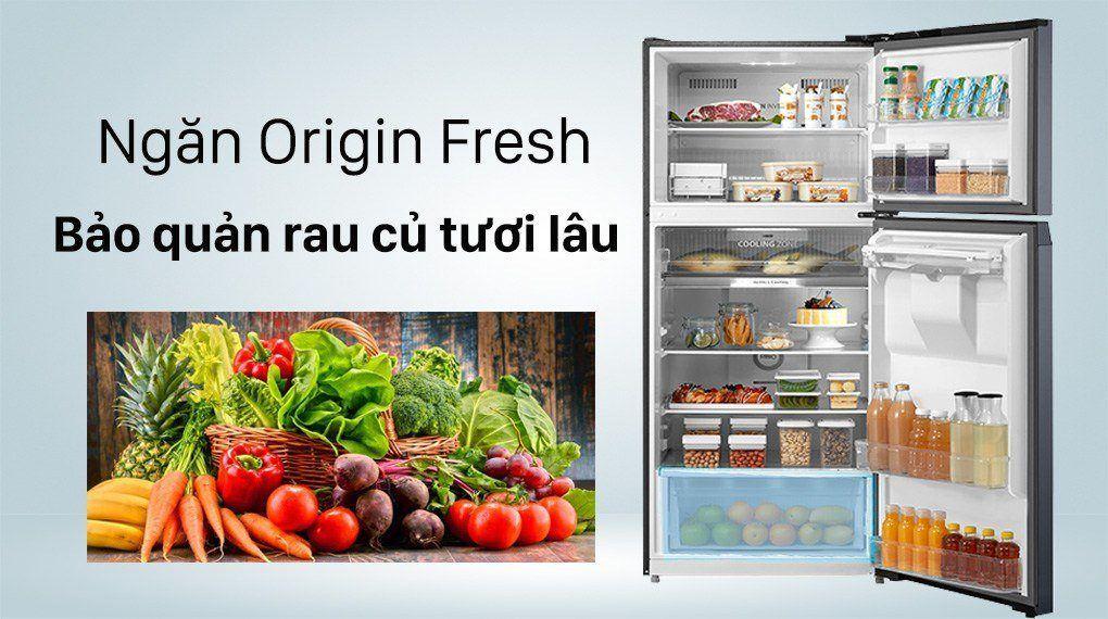 Tủ lạnh Toshiba GR-RT535WE-PMV(06)-MG ngăn Origin Fresh