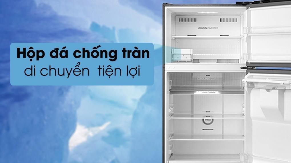 Tủ lạnh Toshiba GR-RT535WE-PMV(06)-MG hộp đá chống tràn di chuyển tiện lợi