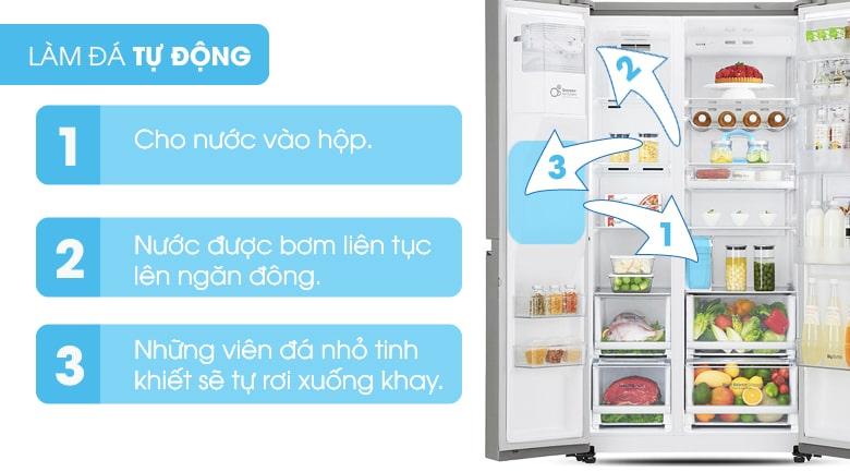 Tủ lạnh Samsung RS64R53012C làm đá tự động tiện lợi