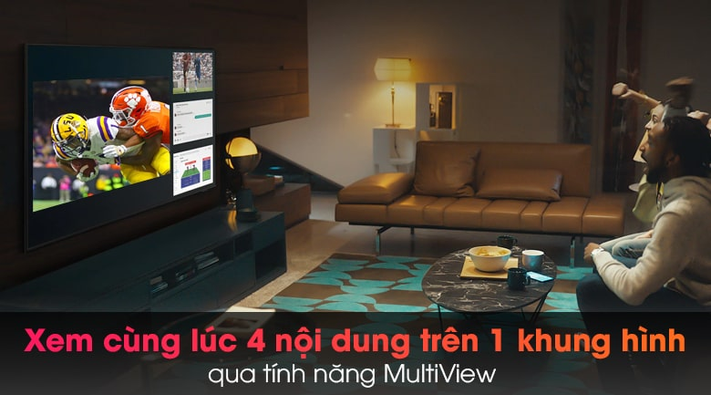 Tivi Samsung 65QN900A xem cùng lúc đa nội dung trên 1 khung hình
