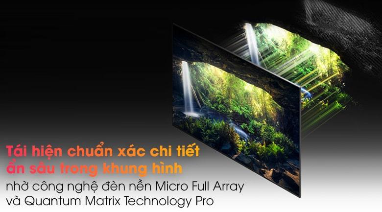 Tivi Samsung 65QN900A tái hiện chuẩn xác chi tiết ẩn sâu trong khung hình nhờ công nghệ đèn nền