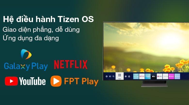 hệ điều hành tizen OS giao diện phẳng, dễ dùng