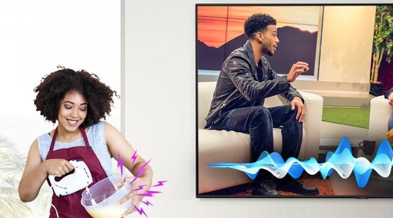 Tivi Samsung 65QN700A tăng chất lượng âm thanh thoại