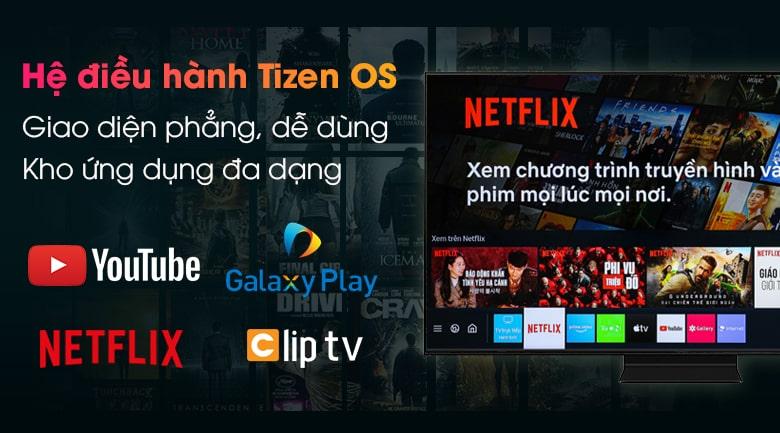 hệ điều hành Tizen OS giao diện phẳng, dễ dùng, kho ứng dụng đa dạng