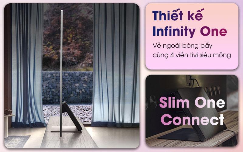 Tivi Samsung 75QN800A thiết kế Infinity One