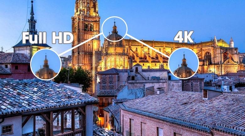 Tivi Samsung 98QN90A độ phân giải sắc nét gấp 4 lần Full HD