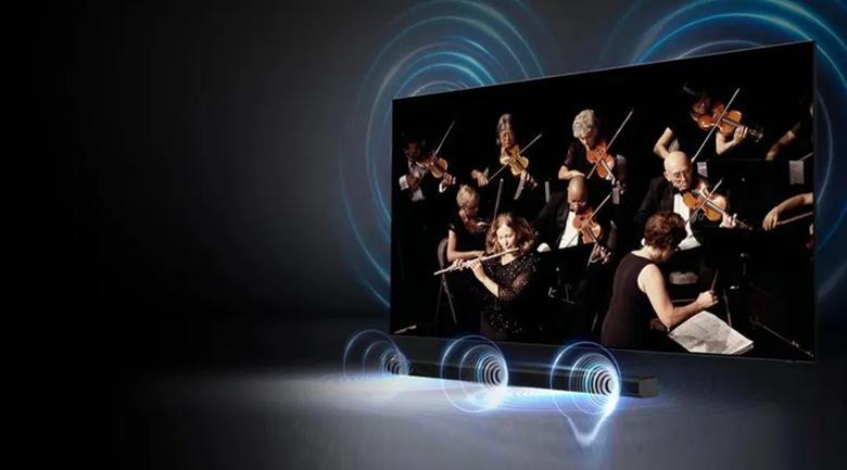 Smart Tivi Khung Tranh The Frame QLED Samsung 4K 75 inch QA75LS03A - Công suất 40W kết hợp công nghệ Q-Symphony