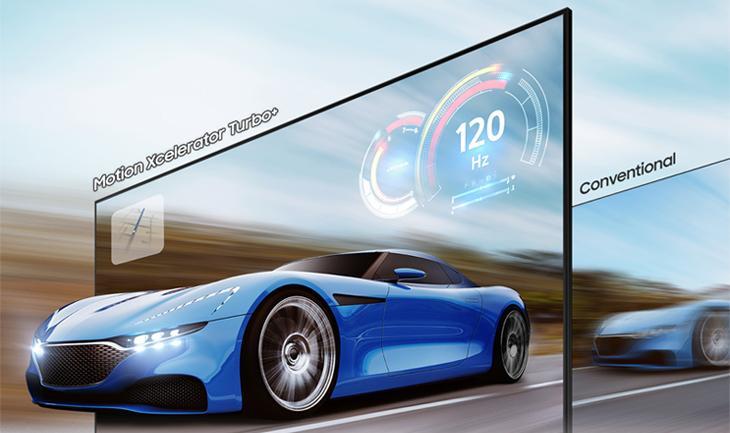 Smart Tivi Khung Tranh The Frame QLED Samsung 4K 75 inch QA75LS03A - Cảnh chuyển động hiển thị rõ nét nhờ công nghệ Motion Xcelerator Turbo