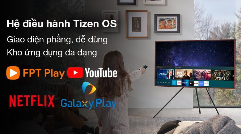 Smart Tivi Khung Tranh The Frame QLED Samsung 4K 75 inch QA75LS03A - Hệ điều hành TizenOS 6.0 tiện dụng