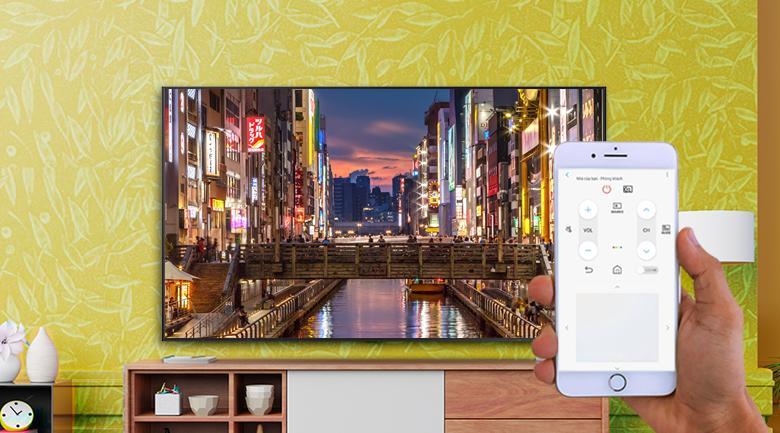 Smart Tivi Khung Tranh The Frame QLED Samsung 4K 75 inch QA75LS03A - Dễ dàng điều khiển Smart tivi trên điện thoại qua ứng dụng SmartThings