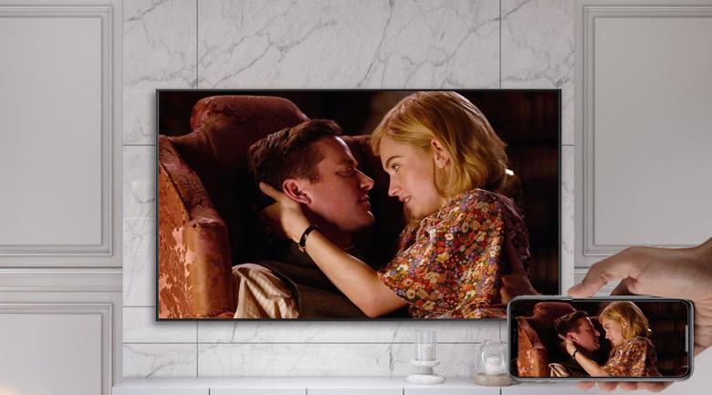 Smart Tivi Khung Tranh The Frame QLED Samsung 4K 75 inch QA75LS03A - Trình chiếu màn hình điện thoại lên tivi linh hoạt với tính năng Airplay 2, Screen Mirroring