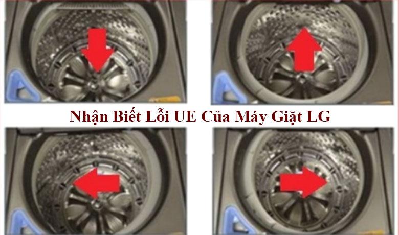 Nhận biết lỗi UE của máy giặt LG