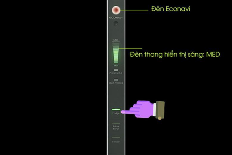 cách sử dụng tủ lạnh Panasonic: Bật chế độ Econavi tiết kiệm điện