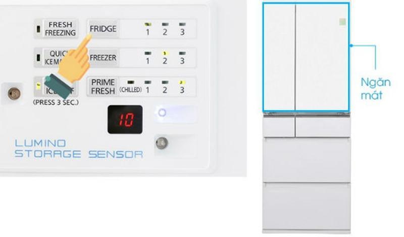 Hướng dẫn sử dụng tủ lạnh Panasonic điều chỉnh nhiệt độ ngăn làm lạnh