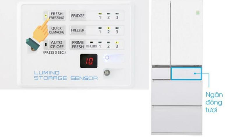 Hướng dẫn sử dụng tủ lạnh Panasonic chức năng làm đông ngăn tươi