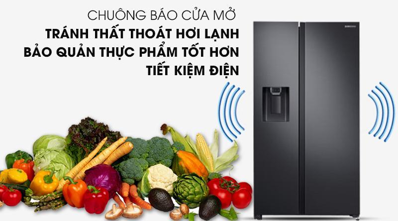 Tủ lạnh Samsung Inverter 617 lít RS64R5301B4/SV-Tránh thất thoát hơi lạnh ra ngoài nhờ chuông báo mở cửa