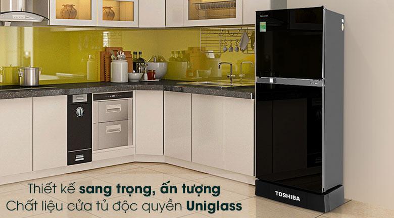 Tủ lạnh Toshiba Inverter 194 lít GR-A25VM(UKG1)-Thiết kế sang trọng, ấn tượng bởi chất liệu cửa tủ Uniglass