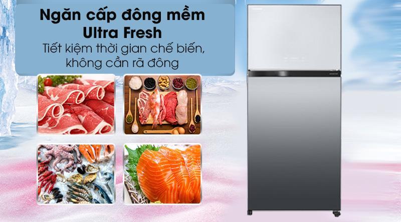 Tủ lạnh Toshiba Inverter 608 lít GR-AG66VA X - ngăn cấp đông mềm ultra fresh tiết kiệm thời gian chế biến