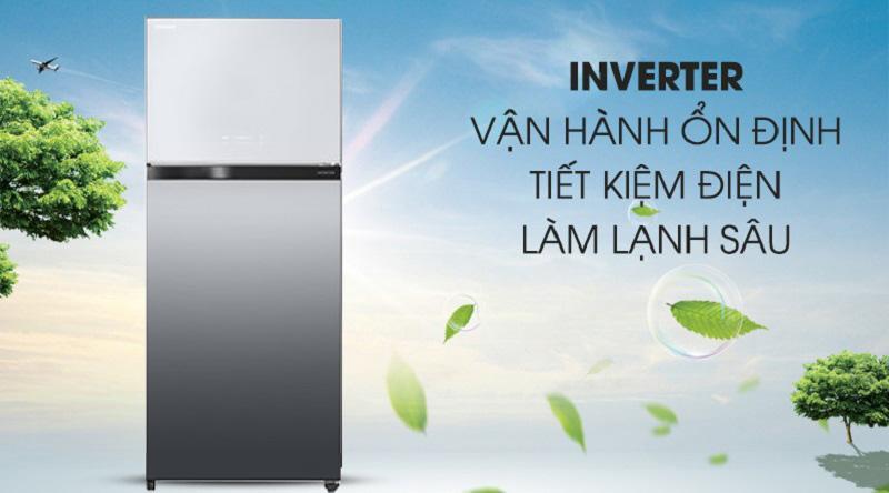 Tủ lạnh Toshiba Inverter 608 lít GR-AG66VA X - tiết kiệm điện nhờ công nghệ inverter
