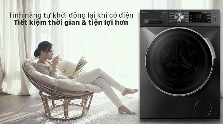 Máy giặt cửa trước Casper giúp tiết kiệm điện năng và thời gian hiệu quả