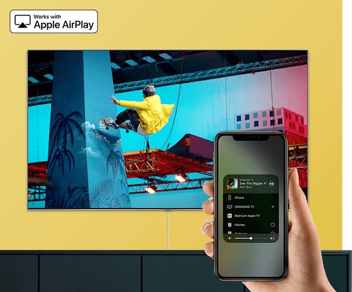 tính năng trình chiếu điện thoại lên tivi với airplay 2