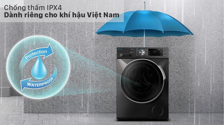 Chức năng chống thấm nước với tiêu chuẩn IPX4 dành riêng cho khí hậu Việt Nam