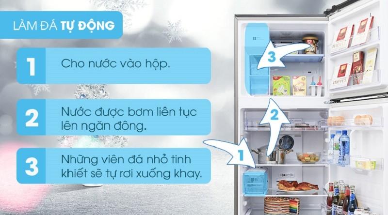 Có thể tự động làm đá - Tủ lạnh Samsung Inverter 360 lít RT35K5982S8/SV
