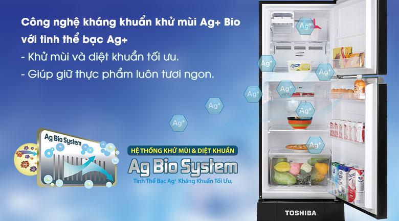 Tủ lạnh Toshiba Inverter 194 lít GR-A25VM(UKG1) -Loại bỏ mùi hôi, kháng khuẩn tối ưu cùng công nghệ tinh thể bạc Ag  Bio
