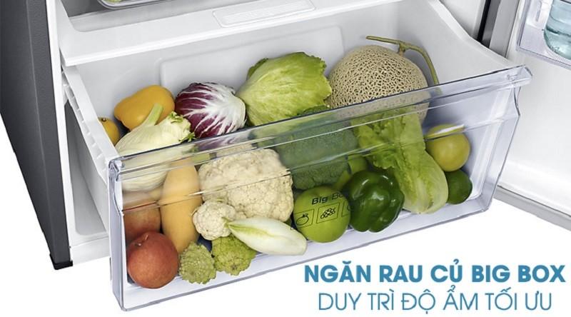 Giữ nguyên được độ tươi ngon của rau củ với ngăn giữ ẩm Bigbox
