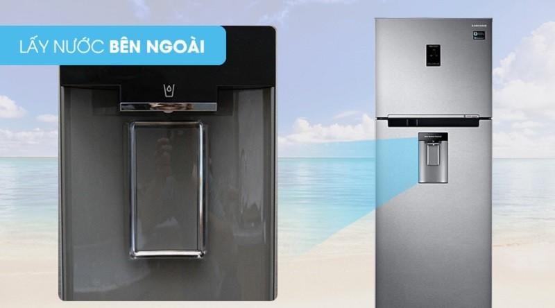 Có ngăn lấy nước bên ngoài khá tiện dung - Tủ lạnh Samsung Inverter 380 lít RT38K5982SL/SV