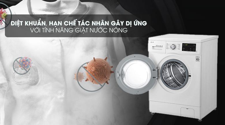 Giặt nước nóng giúp sợi vải mềm mịn, hòa tan bột giặt hiệu quả