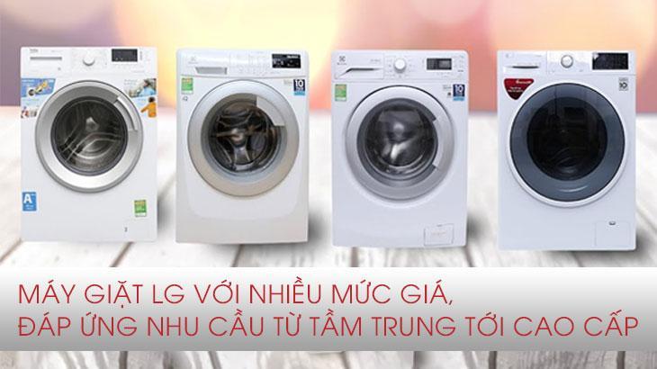 Máy giặt LG nhiều mức giá, từ tầm trung tới cao cấp