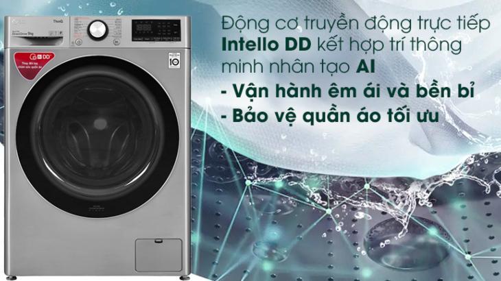 Công nghệ dẫn động trực tiếp Intello DD trên máy giặt LG