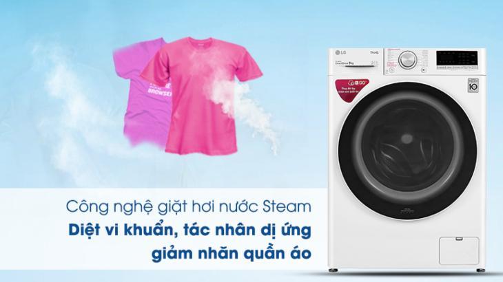 Công nghệ giặt hơi nước TrueSteam trên máy giặt LG