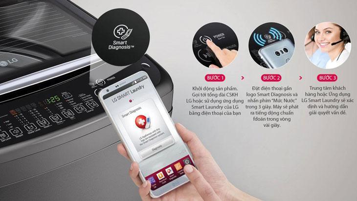 Chẩn đoán thông minh Smart Diagnosis trên máy giặt LG