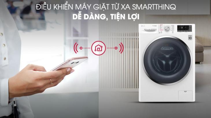 Điều khiển máy giặt LG từ xa qua ứng dụng SmartThinQ trên smartphone