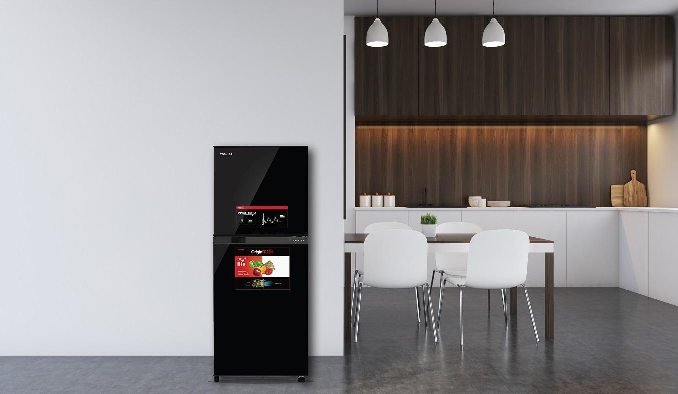 Tủ lạnh Toshiba GR-A25VM (UKG1) tiết kiệm điện năng hiệu quả