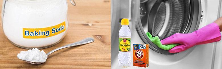 Cách vệ sinh máy giặt Samsung cửa trên bằng Bakinh Soda và giấm