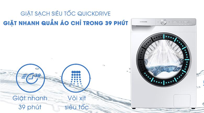 Máy giặt Samsung WW10TP44DSH/SV - giặt nhanh 39 phút