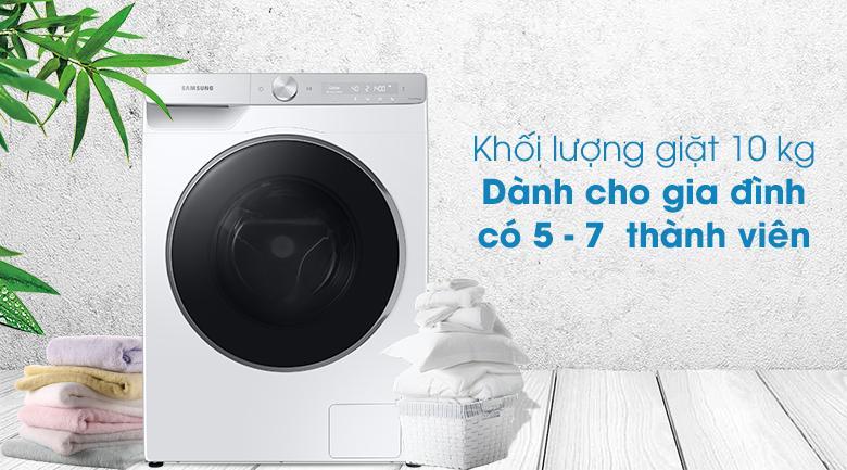 Máy giặt Samsung WW10TP44DSH/SV - khối lượng giặt