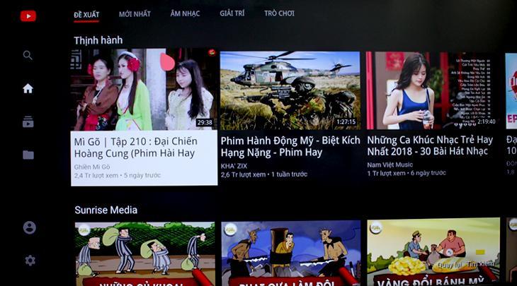 Kiểm lại ứng dụng Youtube trên tivi